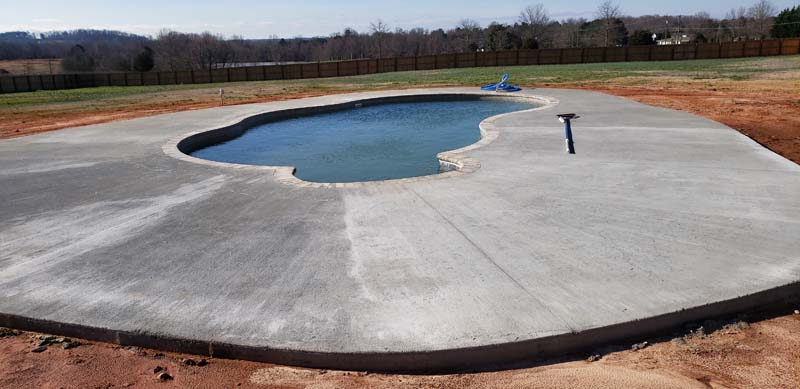newly constructed round pool